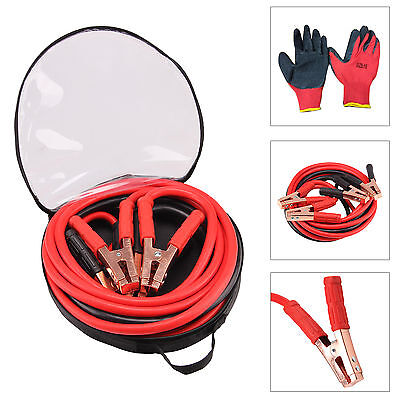 Heavy Duty 1200Amp Car Van Jump Leads 5 Metre Booster Cables Start New & Gloves
