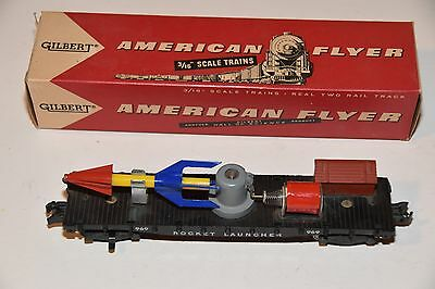 "1957 American Flyer train Gilbert 3/16"" S Scale toy ROCKET LAUNCHER 25044 25045"