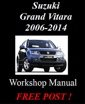 Suzuki Grand Vitara 2006 - 2014 Petrol & Diesel Workshop Manual On Cd - The Best