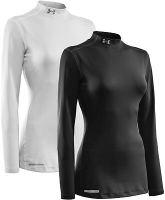 Under Armour Womens ColdGear Fitted LS Mock Baselayer Top