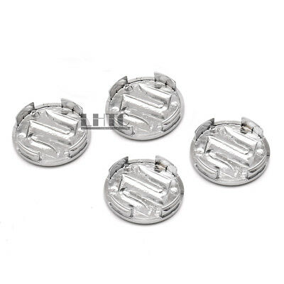 4Pcs 54mm Silver Wheel Hub Center Caps Block Covers Emblem For Suzuki Swift SX4