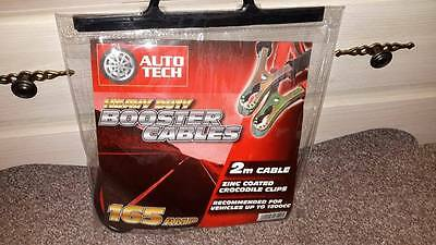 Auto Tech Heavy Duty Booster Cables / Jump Leads 165 Amp 2m Cable New