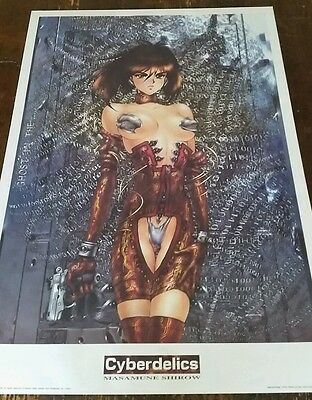 Poster 68x98 Original Masamune Shirow Cyberdelics Ghost in the Shell
