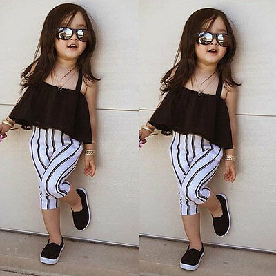 Toddler Baby Girls Summer Outfit Toddler Kids Cute Top Dress Tee T-Shirt Clothes