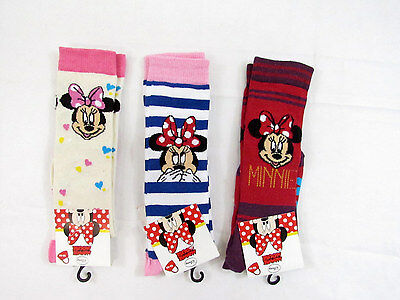 Tris Calzini Bambina Minnie Mouse Disney In Caldo Cotone - Kids Socks Size 23/34