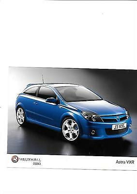 Vauxhall Astra Vxr Press Photo 'brochure Related'