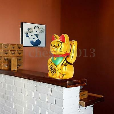 """Golden Chinese Fortune Wealth Lucky Money Waving Cat Feng Shui Decoration 6"""""""