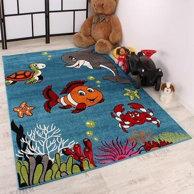New Children Rug Nursery Baby Rugs Kids Room Play Mats Fish Dolphin Turtle Mat