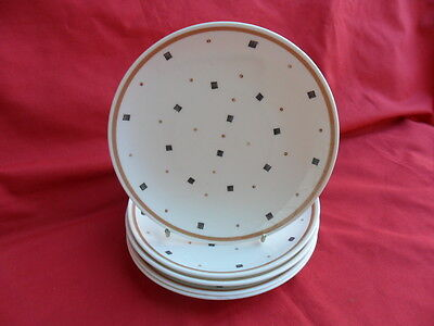 "Susie Cooper, vintage Dot & Square design, 5 x 6.6"" Teaplates or Side Plates"