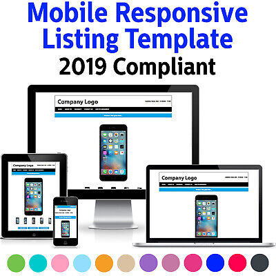 Template Ebay Listing Auction Responsive Mobile Compliant Professional 2019 Html