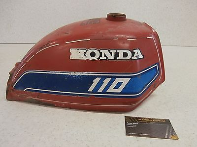 81 82 Honda ATC110 ATC 110 Complete GENUINE Fuel Gas Tank OEM STOCK - Rusty