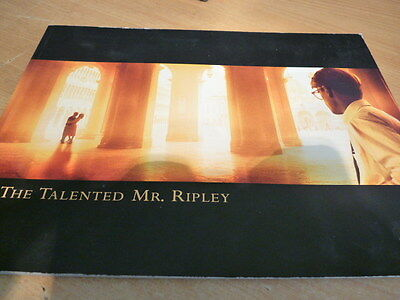 The Talented Mr Ripley - 70 Page Colour Paperback Promo + Full Credits List