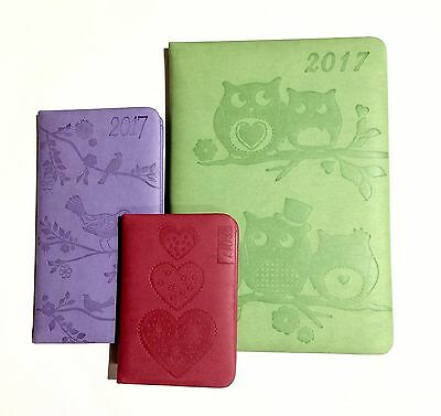 2017 Soft Cover Diary. Week To View. Choose From Pocket, Slim or A5 Size Diaries