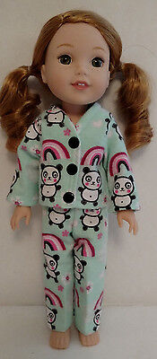 "Doll Clothes Pajamas For American Girl 14.5"" Wellie Wishers Wisher Doll pj257wa"