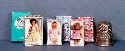 Dollhouse Miniature Jill Ginny and Ginnette Doll Box Set - 1950s Dollhouse 1:12