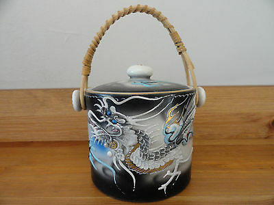 Rare Vintage Japanese Moriage Dragon Ware small bowl with lid  Hand Painted