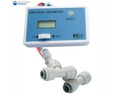 HM Digital DM-1 In-Line Dual TDS Monitor Meter for RO Reverse Osmosis