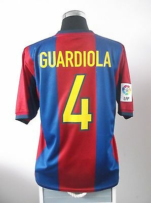 GUARDIOLA #4 Barcelona Home Football Shirt Jersey 1998-2000 (L)