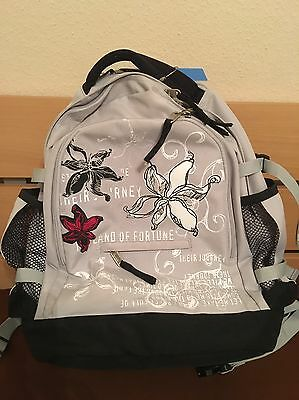 schulrucksack rucksack schule 4 you grau mit blumen eur 15 00 picclick de. Black Bedroom Furniture Sets. Home Design Ideas