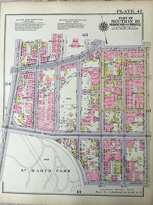1928, Ps 25, Lebanon Hospital, St. Mary's Park, South Bronx, Ny Atlas Plat Map