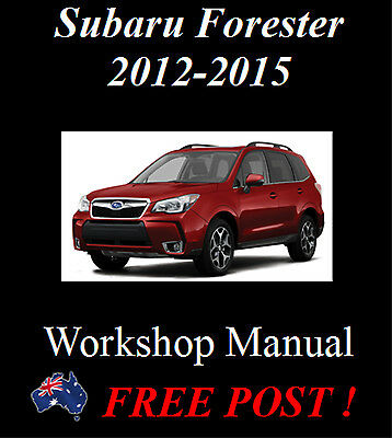 Subaru Forester Sj 2012-2015 Workshop Service Repair Manual On Cd - The Best !!