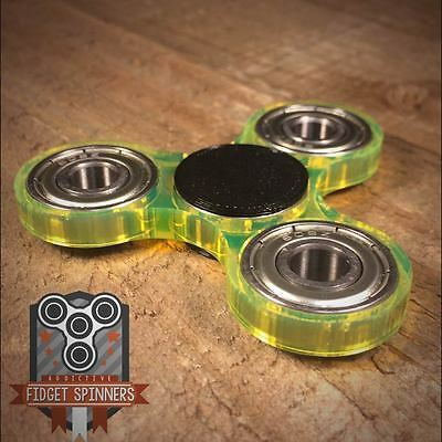Acrylic EDC Spinner Tri Bar Fidget Toy with Caps **ships out within 24 hours**