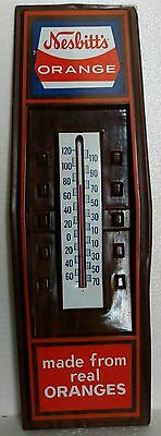 Vintage Nesbitt's Thermometer Sign ORANGE SODA Crush Advertising 22 x 7-1/2""