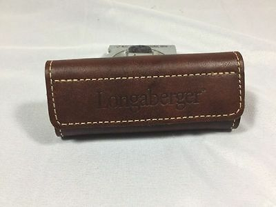 Longaberger Leather Handle Grip With Velcro Closure New