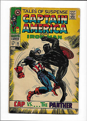 Tales Of Suspense #98  [1968 Gd]  Black Panther Cover!