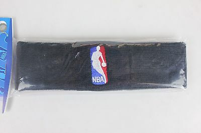 NBA Logo Black Terry Headband