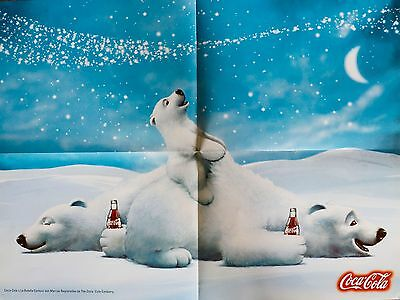 Set 5 Coca Cola Posters Argentina South America New Unused Polar Bear Edition