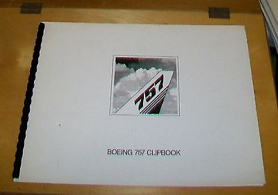 BOEING 757 CLIPBOOK DRAWINGS LETTERING PHOTOGRAPHS FOR MAGAZINES,etc