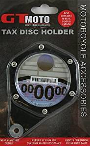 GT MOTO SILVER Motorbike/Motorcycle Tax Disc Holder Brand New Trusted Seller