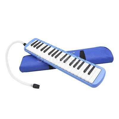 37 Piano Keys Keyboard Melodica Harmonica w/ Mouthpiece Musicians Gift Blue