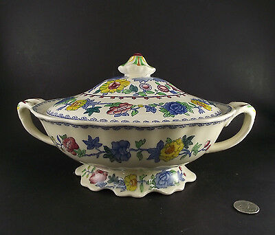 Masons Regency Covered Vegetable Serving Bowl Excellent Condition #1