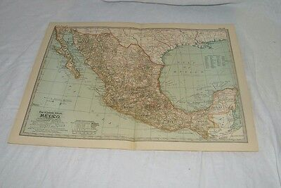 Vintage Mexico The Map CENTURY DICTIONARY AND CYCLOPEDIA 1906 19785