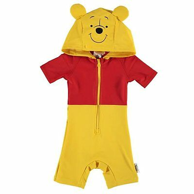 Disney Baby Winnie The Pooh Hooded Swimsuit Sun Suit 12-18 months