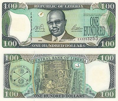 Liberia 100 Dollars (2003) - Tolbert/Woman with Child/p30a UNC