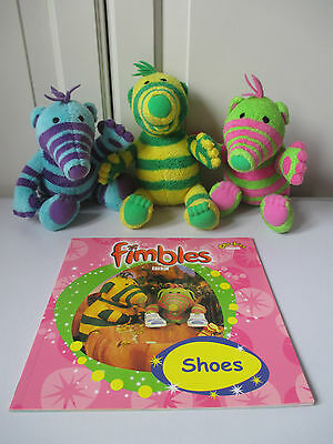 NEW BBC PB Book Shoes The Fimbles Florrie Baby Pom Fimbo Soft Toy Excellent Cond