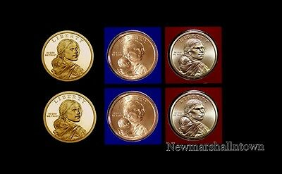 2014 2015 P+D+S Native American Sacagawea Mint Proof Set ~ PD Original Mint Wrap
