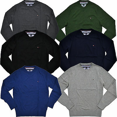 Tommy Hilfiger Mens Sweater Pima Cotton Crew Neck Pullover Long Sleeve New Nwt