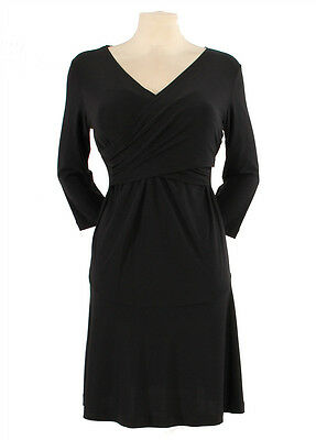 New Japanese Weekend Maternity and Nursing Black Cross Front Shift Dress S 6/8