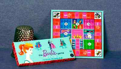Dollhouse Miniature Barbie Queen of the Prom Game 1960s  dollhouse game toy 1:12