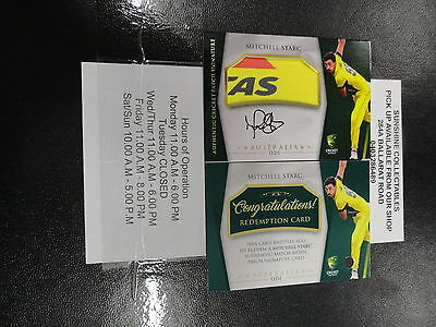 2016/17 Cricket Tap' N' Play Signature Patch Mitchell Starc 032/100
