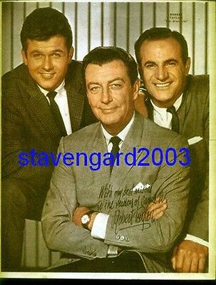 ROBERT TAYLOR  The Detectives  SIGNED POSTER Arg 60 's