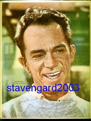 RAY WALSTON  My Favorite Martian SIGNED POSTER Arg 60 's