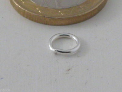4 ANELLINI SALDATI IN ARGENTO 925 STERLING made in italy 6 MM