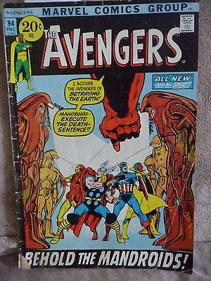Marvel Avengers December, 1971 No. 94 Behold the Mandroids