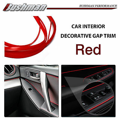10M Red Gap Trim Car Auto Interior Garnish Edge Moulding Trim Protector Line OZ