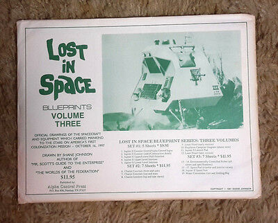 1991 Lost in Space Volume III Blueprint Set of 7 Sheets 17x22 w Envelope (M5693)